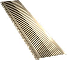 Широкая с крупной волной фасадная панель 0,5 мм, Ral 1014
