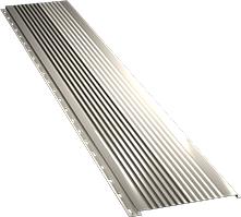 Широкая с крупной волной фасадная панель 0,5 мм, Ral 1015