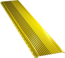 Широкая с крупной волной фасадная панель 0,5 мм, Ral 1018
