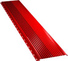 Широкая с крупной волной фасадная панель 0,5 мм, Ral 3003