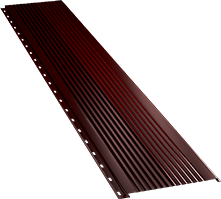 Широкая с крупной волной фасадная панель 0,5 мм, Ral 3005