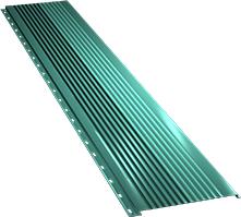 Широкая с крупной волной фасадная панель 0,5 мм, Ral 5021