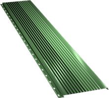 Широкая с крупной волной фасадная панель 0,5 мм, Ral 6002