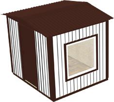 Вагон-бытовка 2х2х2,3м (Эконом)