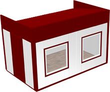 Вагон-бытовка 2,4х4х2,3м (Премиум)