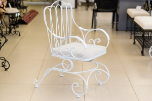 Кресло-качалка, цвет белый