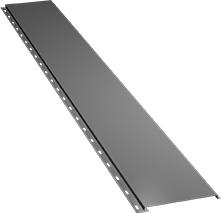 Гладкая узкая фасадная панель 0,5 мм, Ral 9006