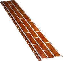 Гладкая узкая фасадная панель 0,5 мм, Red brick