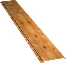 Гладкая узкая фасадная панель 0,5 мм, Orange log