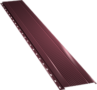 Узкая с мелкой волной фасадная панель 0,5 мм, Ral 3005