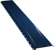 Узкая с мелкой волной фасадная панель 0,5 мм, Ral 7024