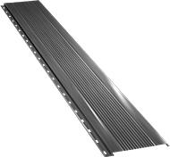 Узкая с мелкой волной фасадная панель 0,5 мм, Ral 9006