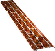 Узкая с мелкой волной фасадная панель 0,5 мм, Red brick