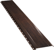 Узкая с мелкой волной фасадная панель 0,5 мм, Corten