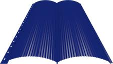 Блок-хаус 0,5 мм, Ral 5002