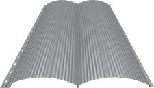 Блок-хаус 0,5 мм, Ral 7004