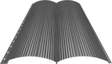Блок-хаус 0,5 мм, Ral 9006